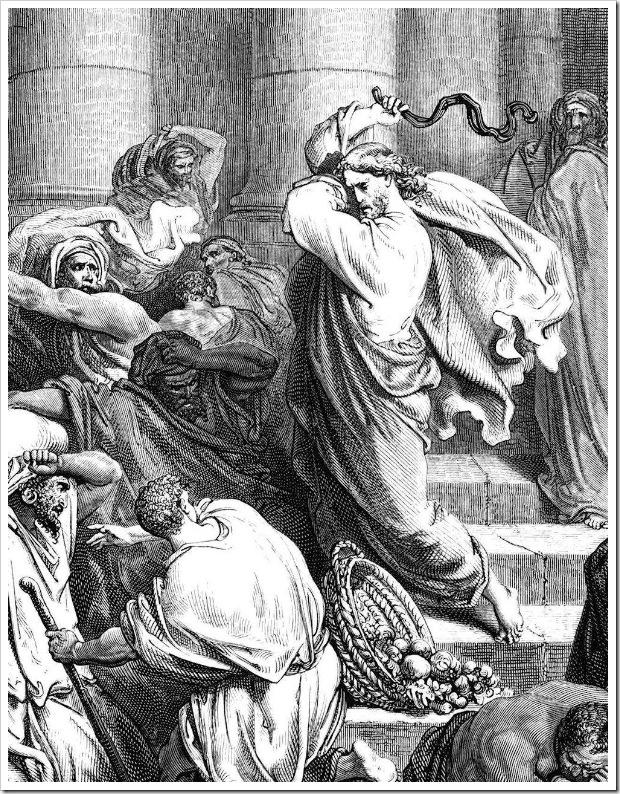 Jesus Cristo a%C3%A7oita os mercadores do Templo, Gustave Dor%C3%A9