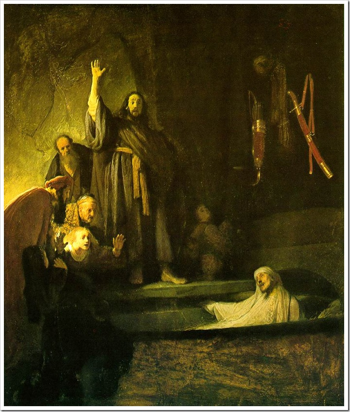Rembrandt, the Raising of Lazarus