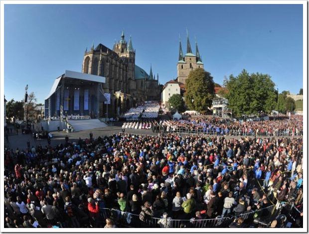 Bento XVI na Alemanha_ missa na Catedral de Erfurt