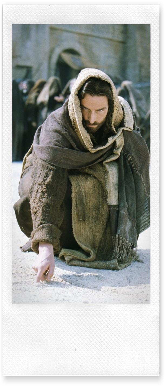 Jesus escreve na areia