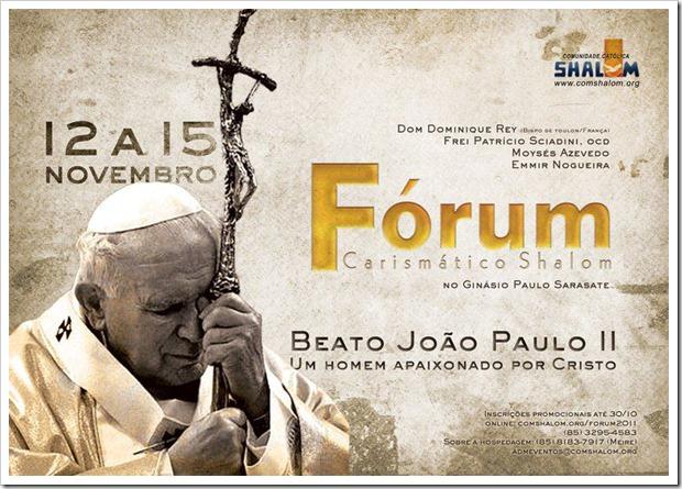 Fórum Carismático Shalom_2011