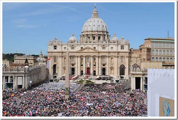 Praça São Pedro Vaticano por Vincenzo Pinto-France Presse